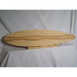 Woodbark Longboard Blank Deck - Bamboo Inlay