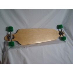 Woodbark Longboard - Drop Through mit ABEC11 Gumballs