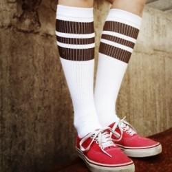 Oldschool Tube Socks Black Blacks on White