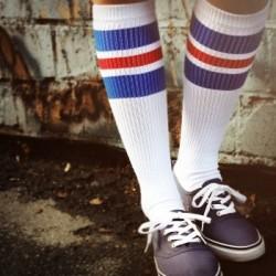 Spirit of 76 Oldschool Tube Socks royal Reds