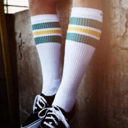 Spirit of 76 Oldschool Tube Socks Green Sunnys on White - Hi