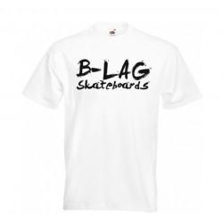 B-LAG Skateboards Premium T-Shirt White