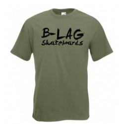 B-LAG Skateboards Premium T-Shirt Olive