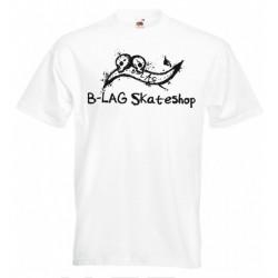 B-LAG Skateshop Premium T-Shirt White