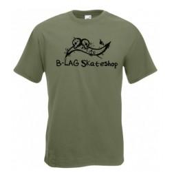 B-LAG Skateshop Premium T-Shirt Olive