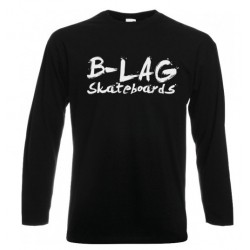 B-LAG Skateboards Longsleeve Black