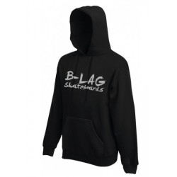 B-LAG Skateboards Hooded Sweater Black Grey-Font