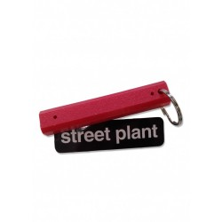 Street Plant Curb Key Chain Parking Block Red