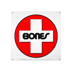 Banner Bones Bearings Swiss White-Red-Black