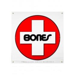 Banner Bones Bearings Swiss White-Red-Black