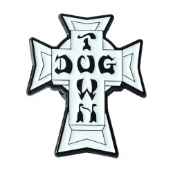 Lapel Pin Dogtown Cross white-black Stecker