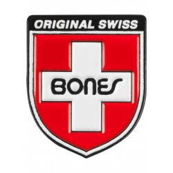 Lapel Pin Bones Bearings Swiss Cross Shield Stecker