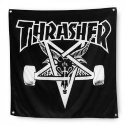 Banner Thrasher Magazine Black Flagge Fahne