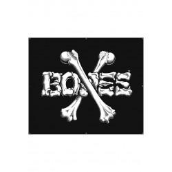 Banner Bones Wheels Cross Bones