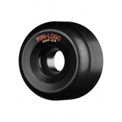 Powell Mini Logo (56mm) A-Cut Wheels Black 101a Rolle