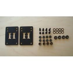 Montage Set, Schrauben, Riserpads, Speedringe, Ersatzteile