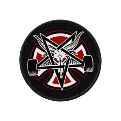 Independent X Thrasher Pentagram Cross Goat Patch Aufnäher