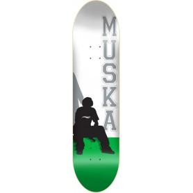 Shortys Chad Muska Silhouette White Green Reissue Skateboard Deck