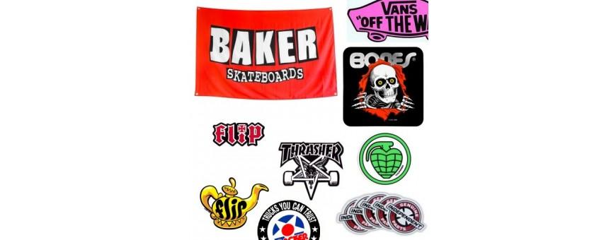 Skateboard Banner und Sticker von Spitfire, Bones, Independent, Baker, Flip, Powell-Peralta und mehr