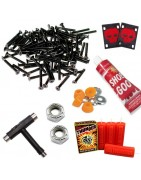 Skateboard Hardware und Zubehör, Rails, Tools, Bushings, Shoe Goo