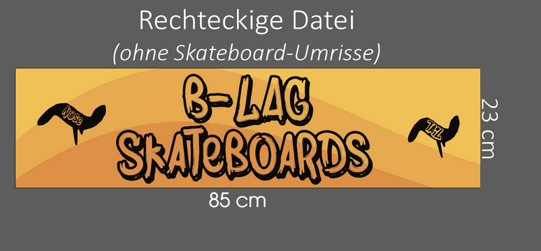 Skateboard bedrucken print custom hitze transfer deck